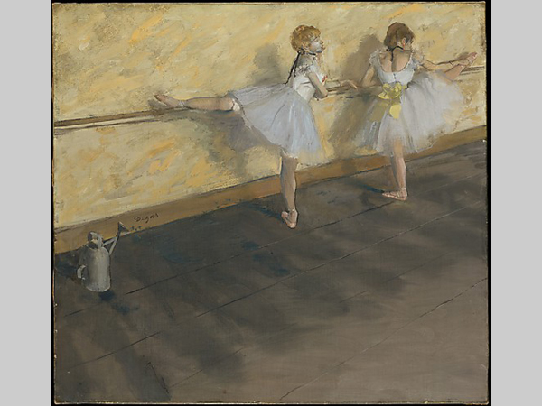 Dancers Practicing at the Barre, Degas,1877