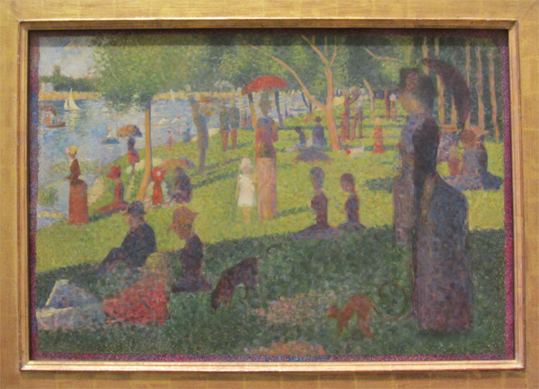 Study for A Sunday on La Grande Jatte,Georges Seurat,1884
